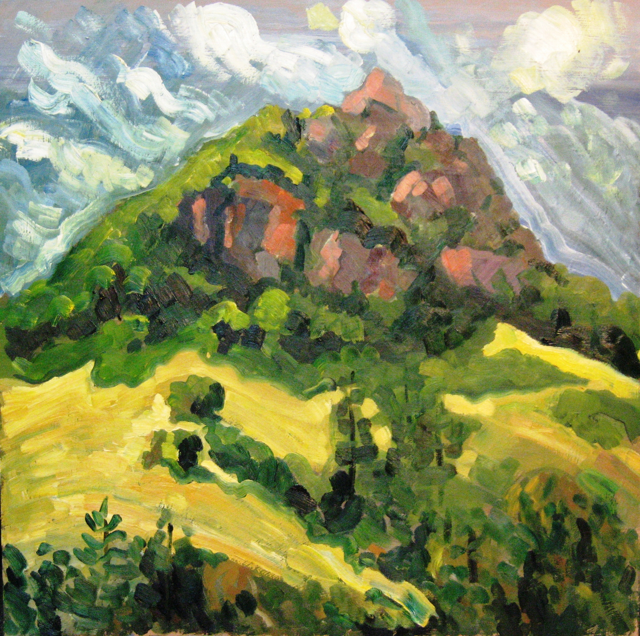 Bishops Peak Late Spring, oil on panel, Private Collection - UNAVAILABLE