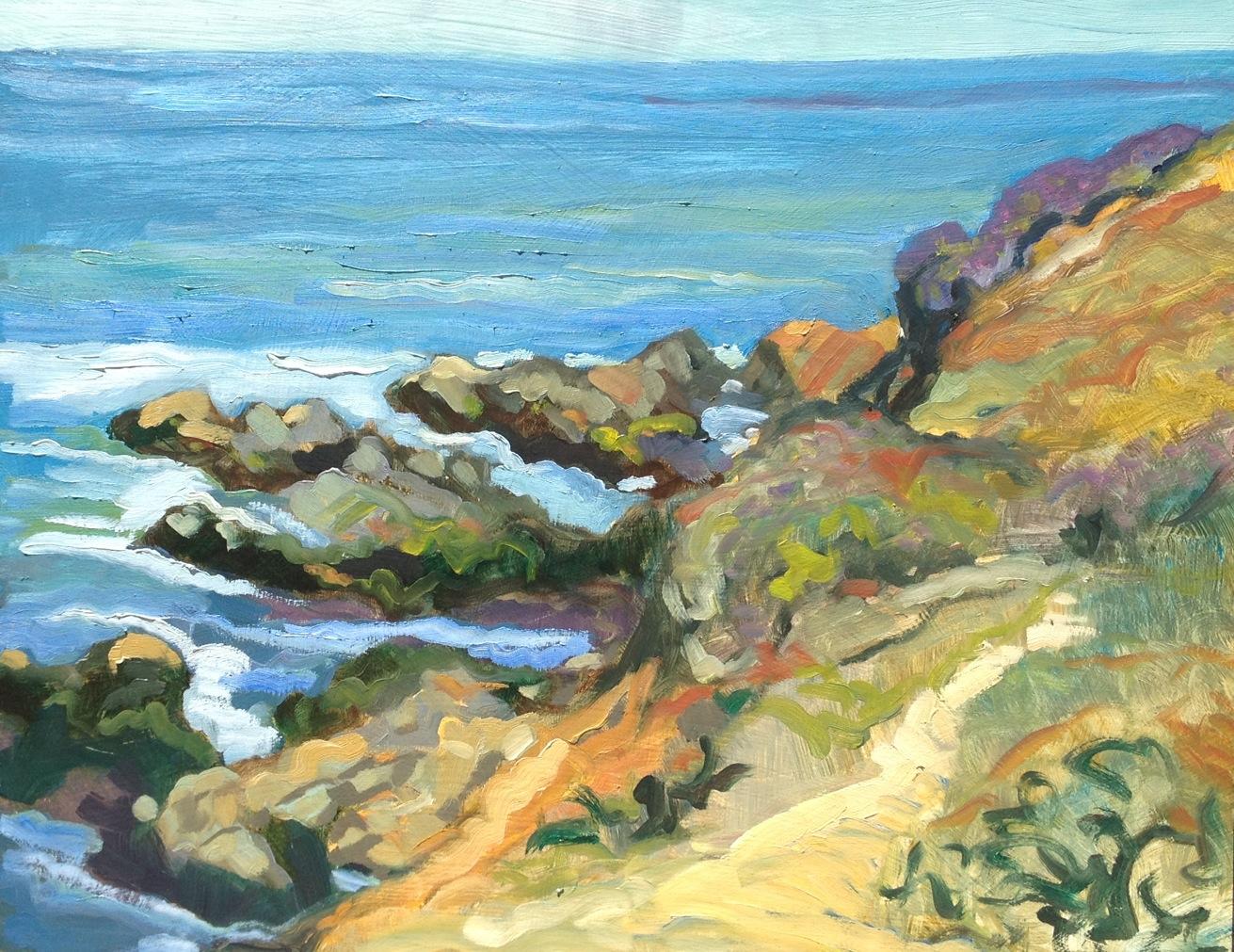 Cambria Coast Rocky Shoreline