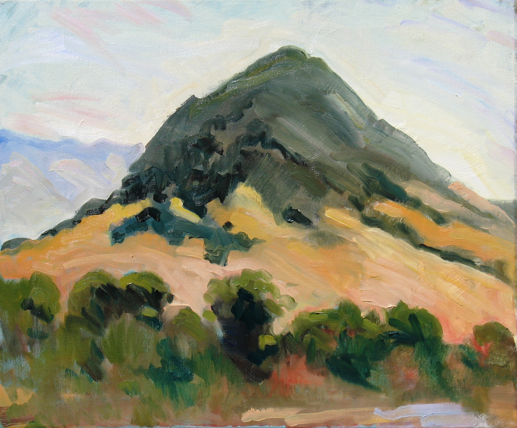 Cerro San Luis or Madonna Mountain, 20 x 24 inches, oil on canvas, 201