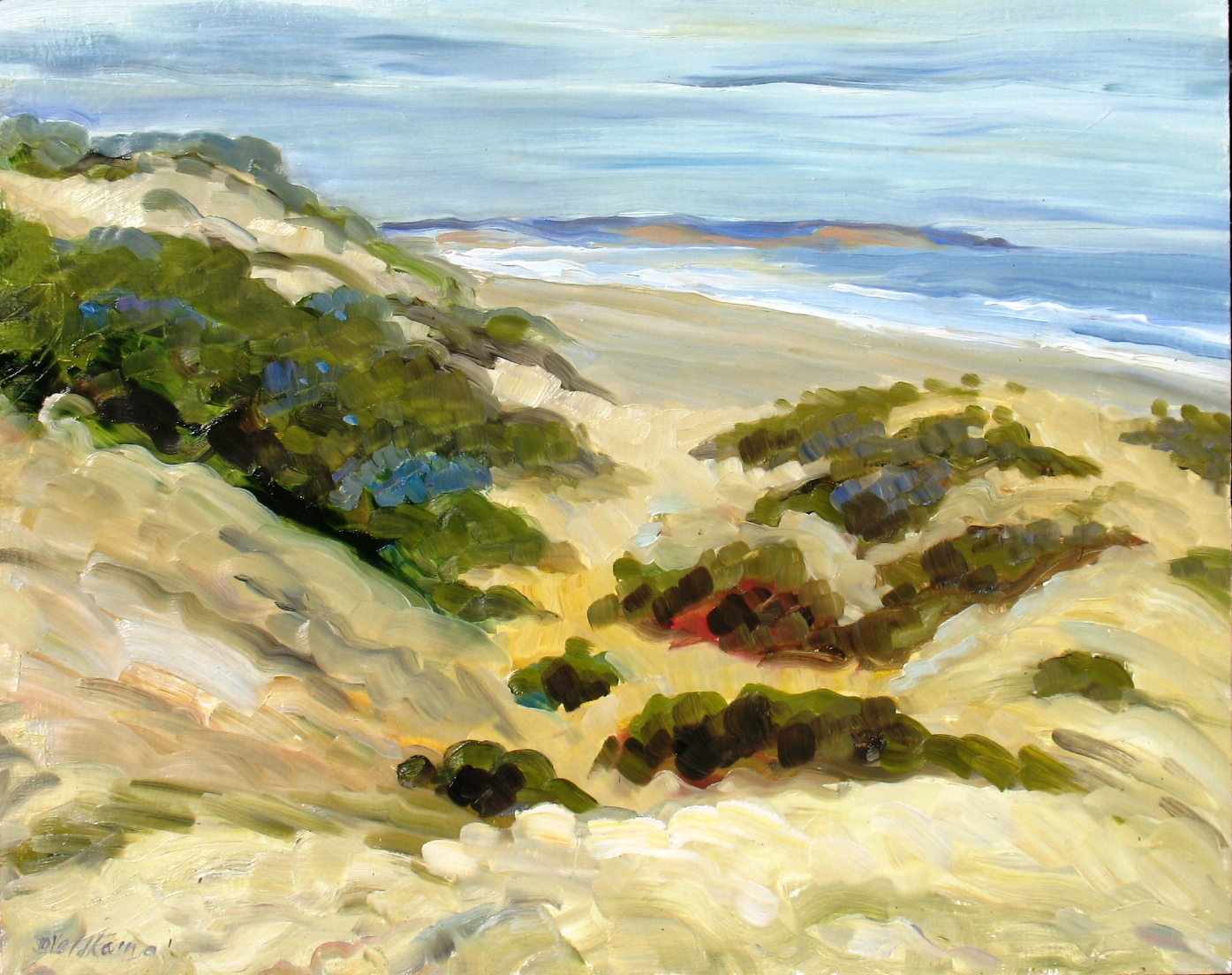 Dunes Looking South to Point Sal, 16 x 20 inc - UNAVAILABLE