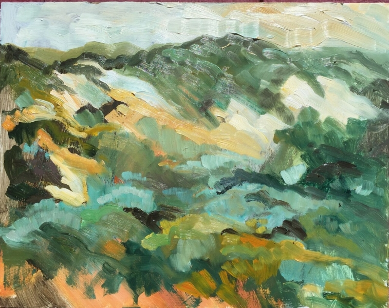 Dunes out at the Morro Sandspit, 11 x 14 inched oil on panel imagejpeg_0