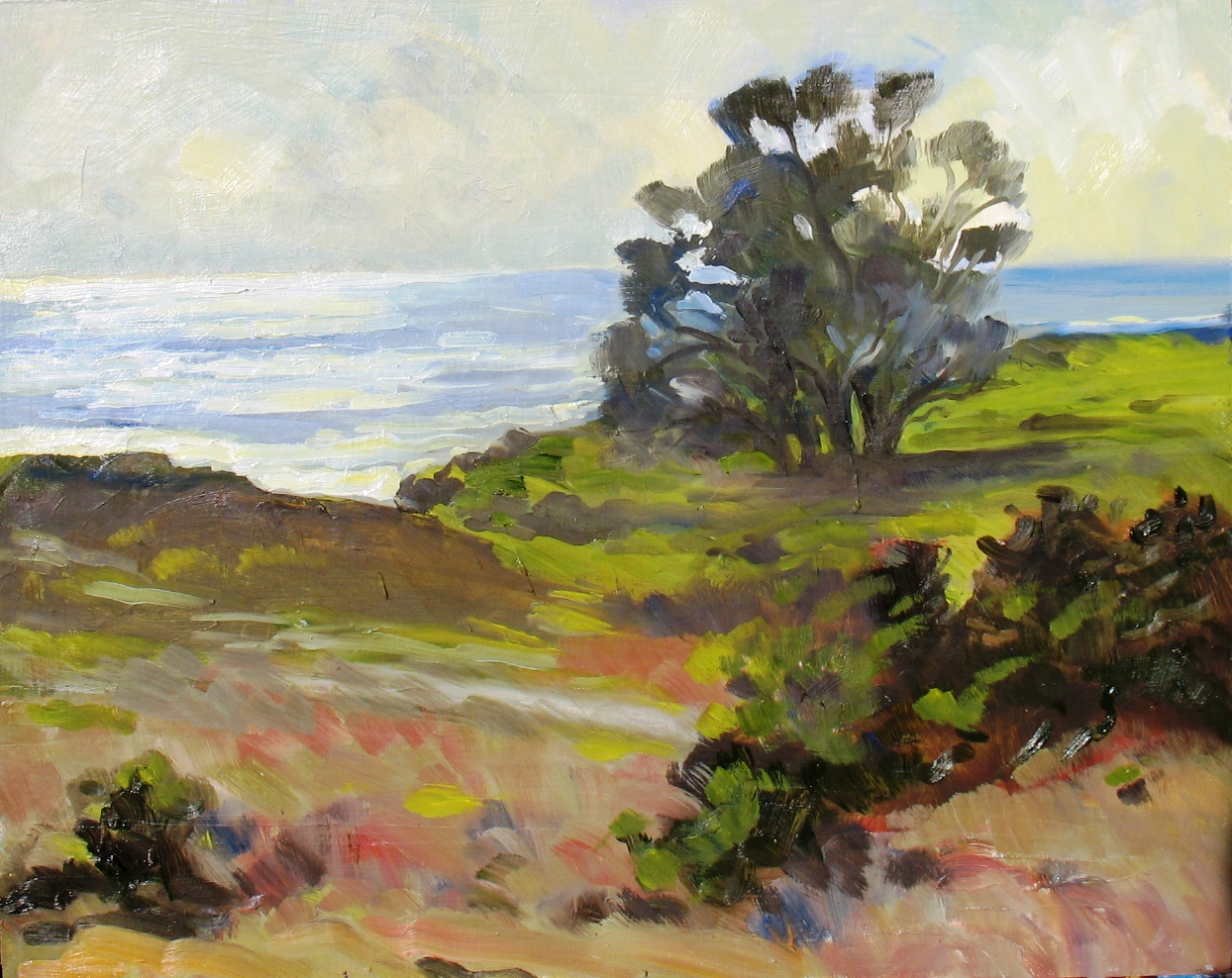 Light on the Water North Above Cayucos, 16 x 20 inches, oil on panel, 2013 - UNAVAILABLE