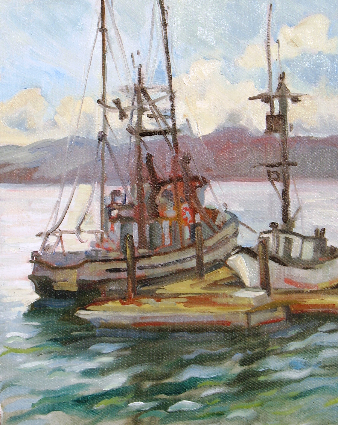 Mollie, Morro Bay, 20 x 16 inches, oil on canvas, 2011 - UNAVAILABLE