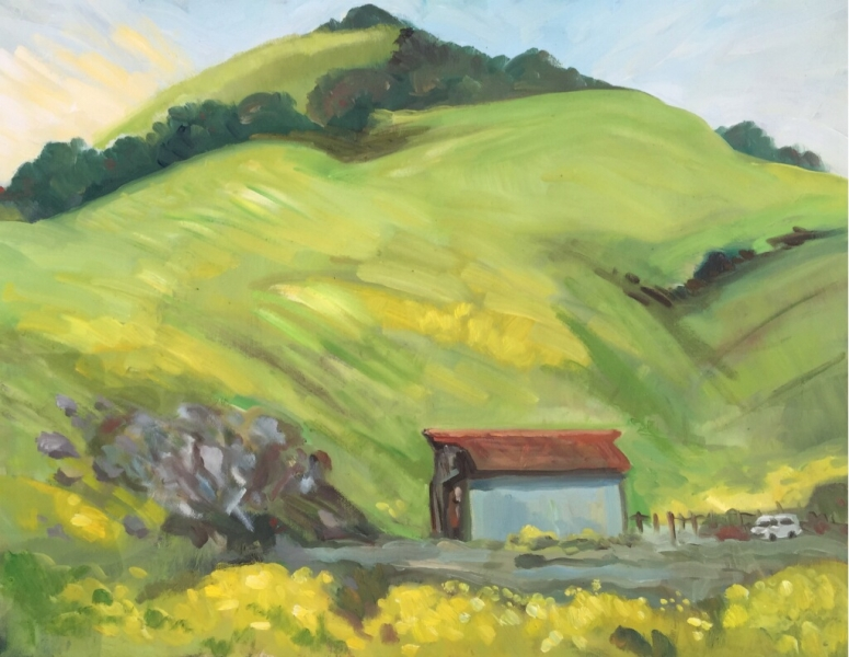 Morning at Johnson Ranch 22x28 inches, oil on canvas