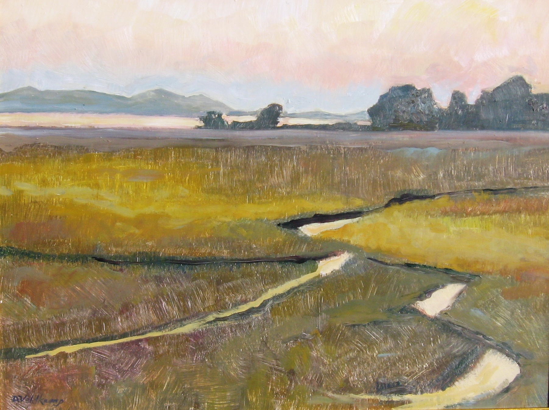 Morning Light on Estuary, 18 x 24 inches, oil on panel, 2010 - UNAVAILABLE