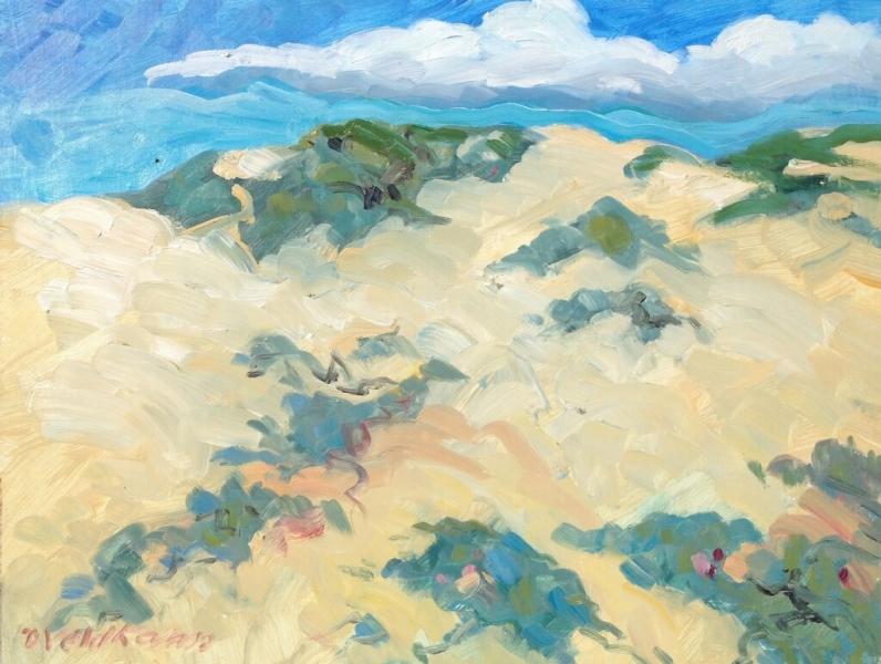 Ocean Dunes, 11 x 14, oil on canvas