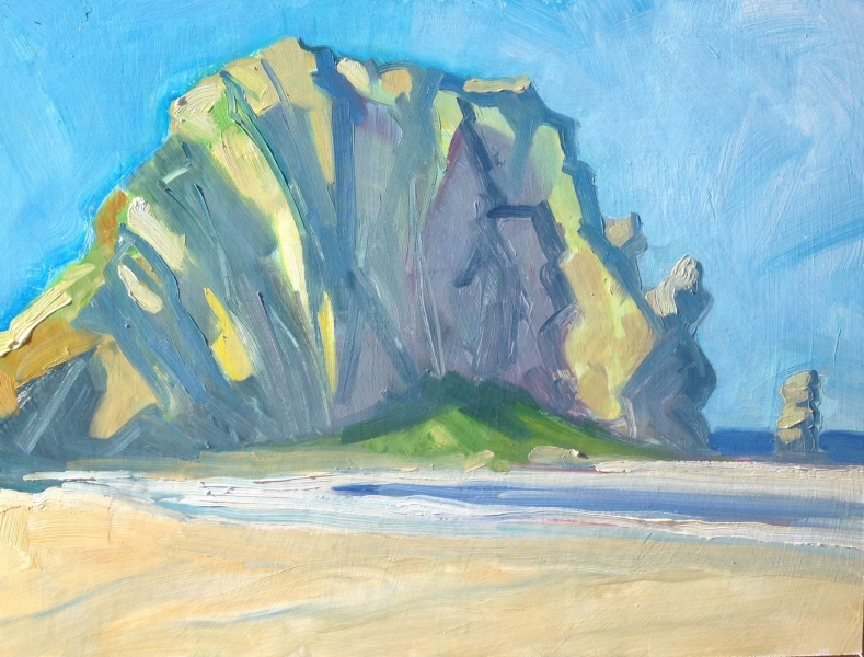 Oil Sketch of Morro Rock, 18 x 24 inches - UNAVAILABLE