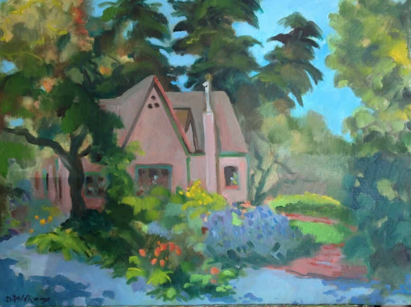 Old farmhouse, Los Osos Valley, oil on canvas, 18 x 24 inches