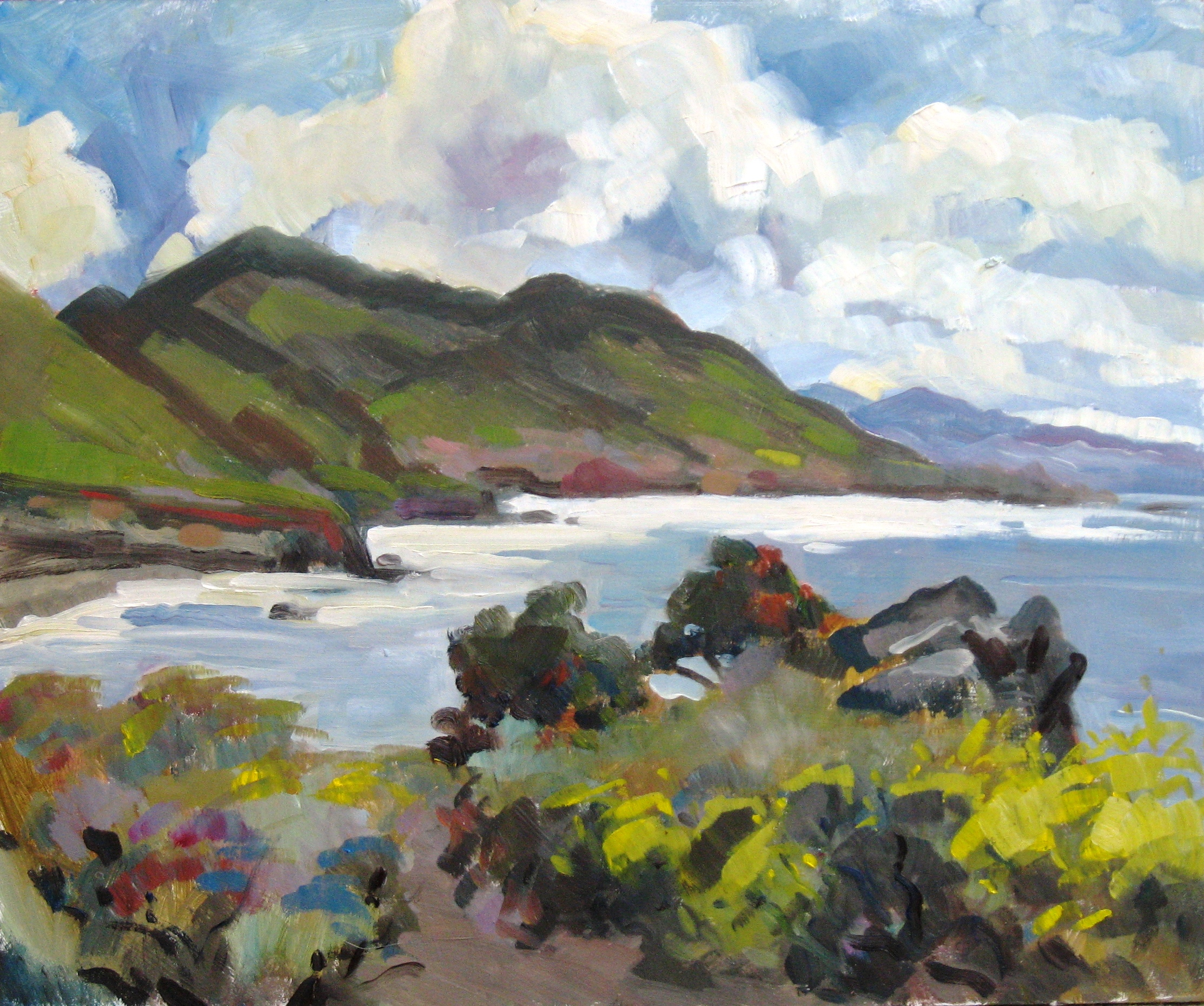 Pirates Cove Looking South, oil on panel, 15 x 18 inches, 2010 - UNAVAILABLE
