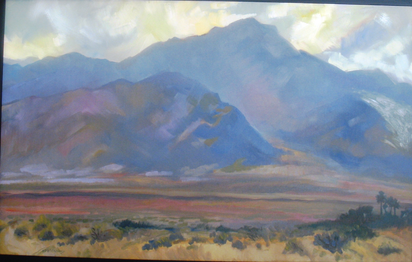 San Jacinto Mountains, oil on canvas, 30 x 40 inches