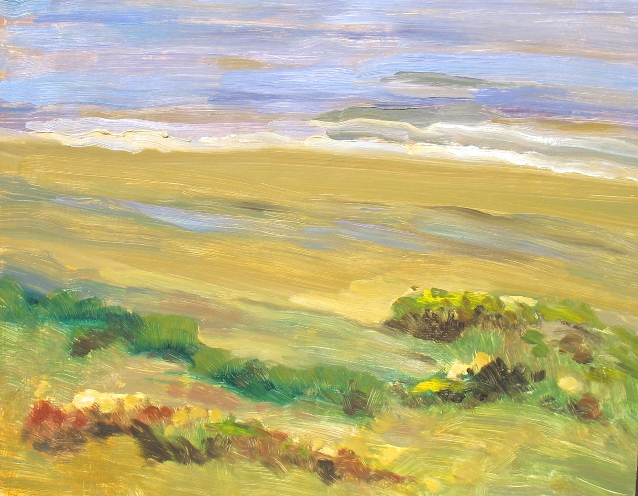 Sandy Shore, 11 x 14 inches, oil on panel