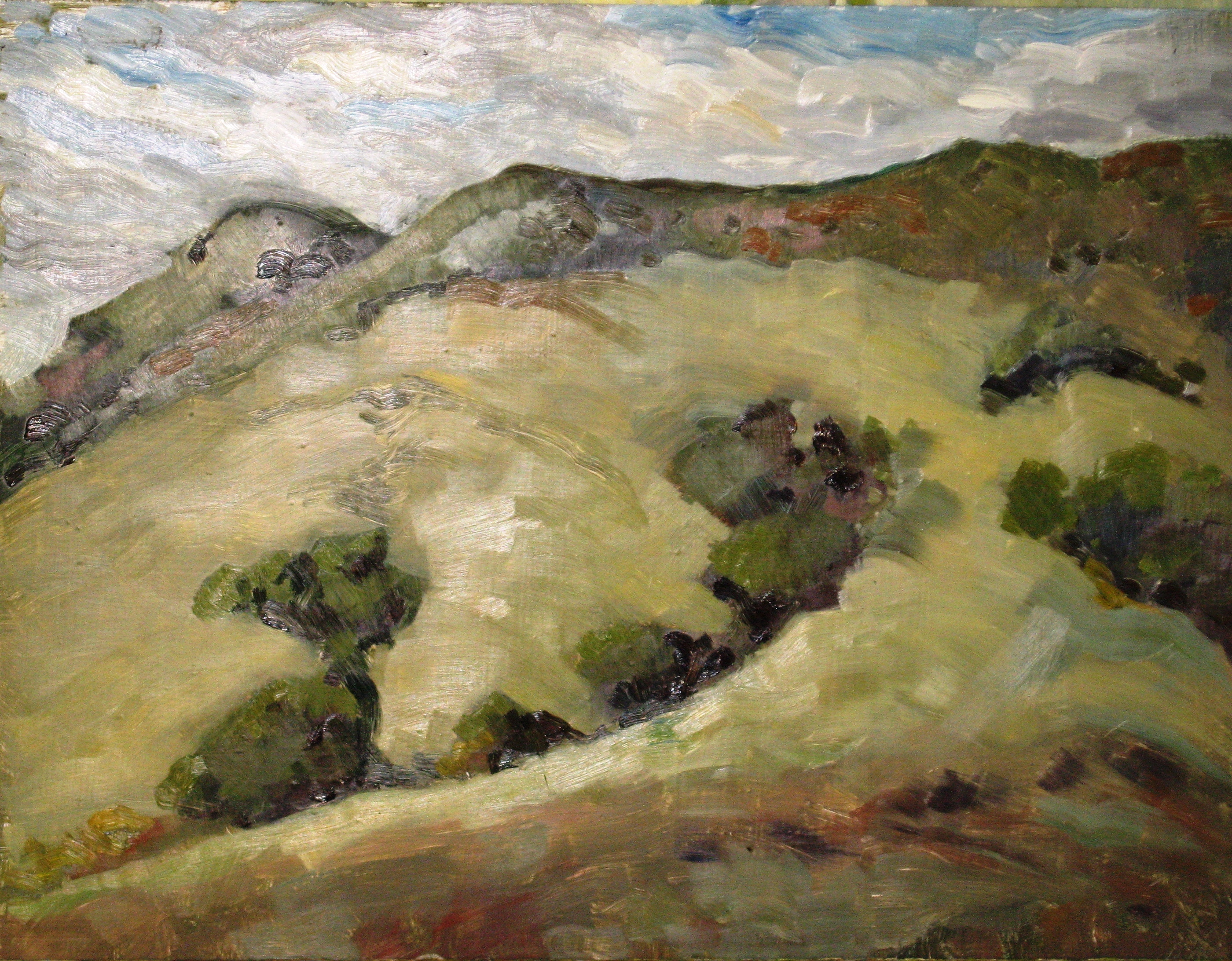 Up on the Hill, oil on board, 14 x 18 - UNAVAILABLE