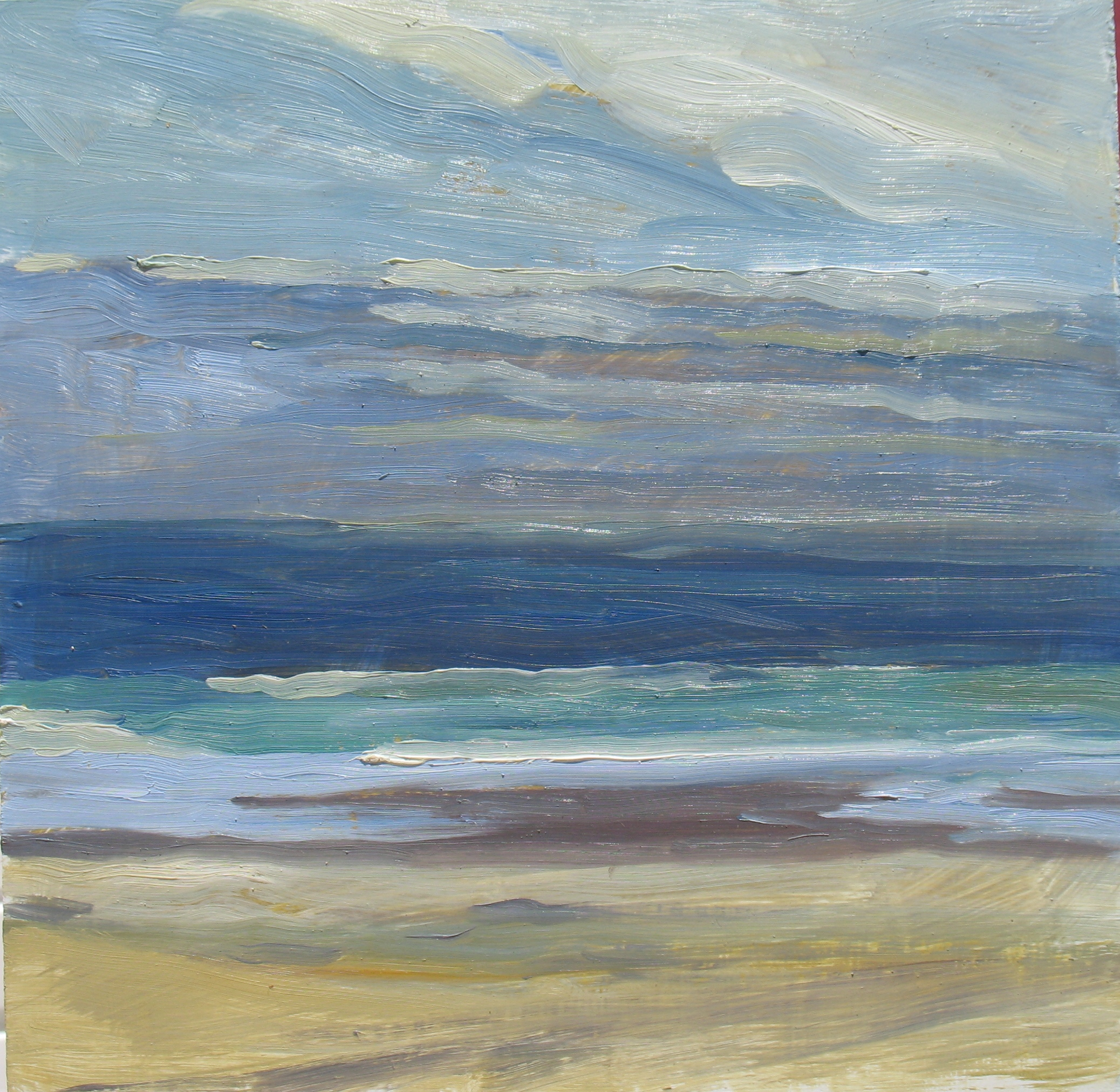 Waves and Light, 12 x 12 inches, oil on panel, 2011 - UNAVAILABLE