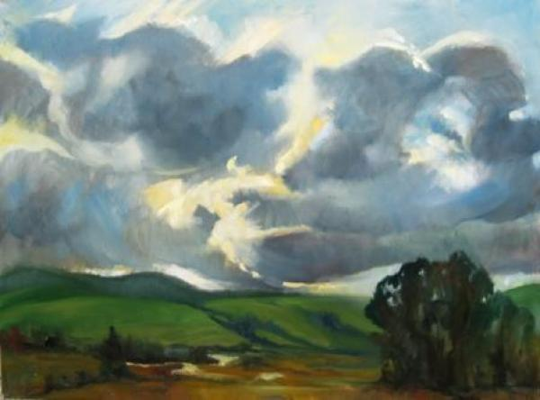Spring Storm after rain, 30 x 40 inches, oil on canvas