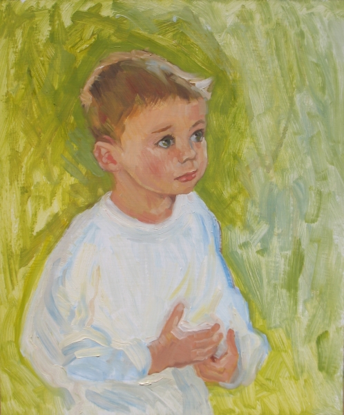 Caleb, 24 x 20 inches oil on panel, Private Collection