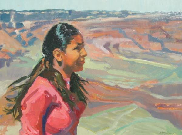 Navajo Maiden, 21 x 28 inches, oil on panel - UNAVAILABLE
