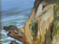 Cliffs in She\'ll beach Oil on panel 10 X 8 inches