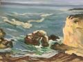 Little Cove with Rock and keyhole, 16 x 20 inches, oil on panel