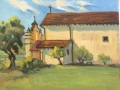 Mission at San Antonio 24 x 30 inches Oil on canvas