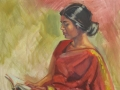 Monica in Sari, 24 x 30 inches, oil on canvas - UNAVAILABLE