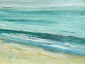 Surf at Cayucos beach, 11. X 14 inches Op