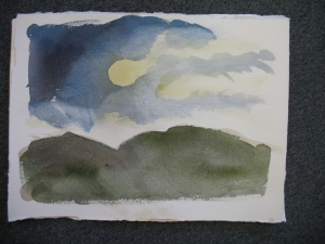 Nocturnes, 11 x 15 inches, watercolor, 2012