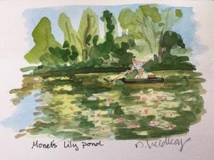 Monet's Garden, 5 x 7