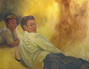 Gabe Arellano, 24 x 30, oil on canvas Nov.  2010 small