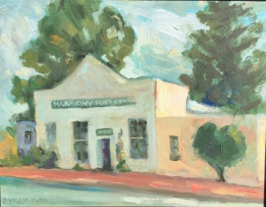 Harmony creamery,  Oil on panel 11 X 14 in