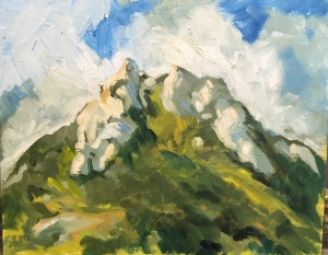 Hollister Peak Clouds 16 X 20 inches, oil on panel
