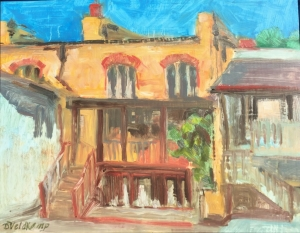 Old town Arroyo Grande, oil on panel, 11 X 14 in