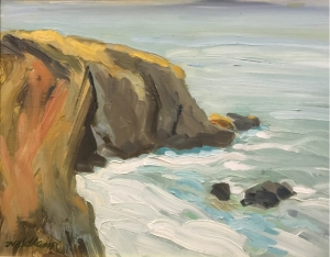 Shell beach cove Oil on panel 11 X 14 in