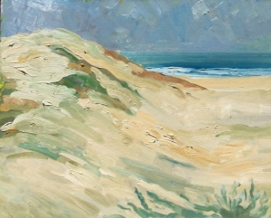 Summer Morning Dunes 16x20 oil on panel