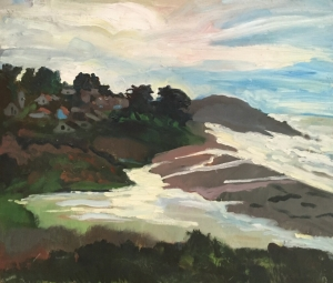 Winter Tide in Cambria 23.5 inch x 27.5 inches canvas.jpg mounted to board