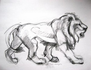 Lion (after rungius)
